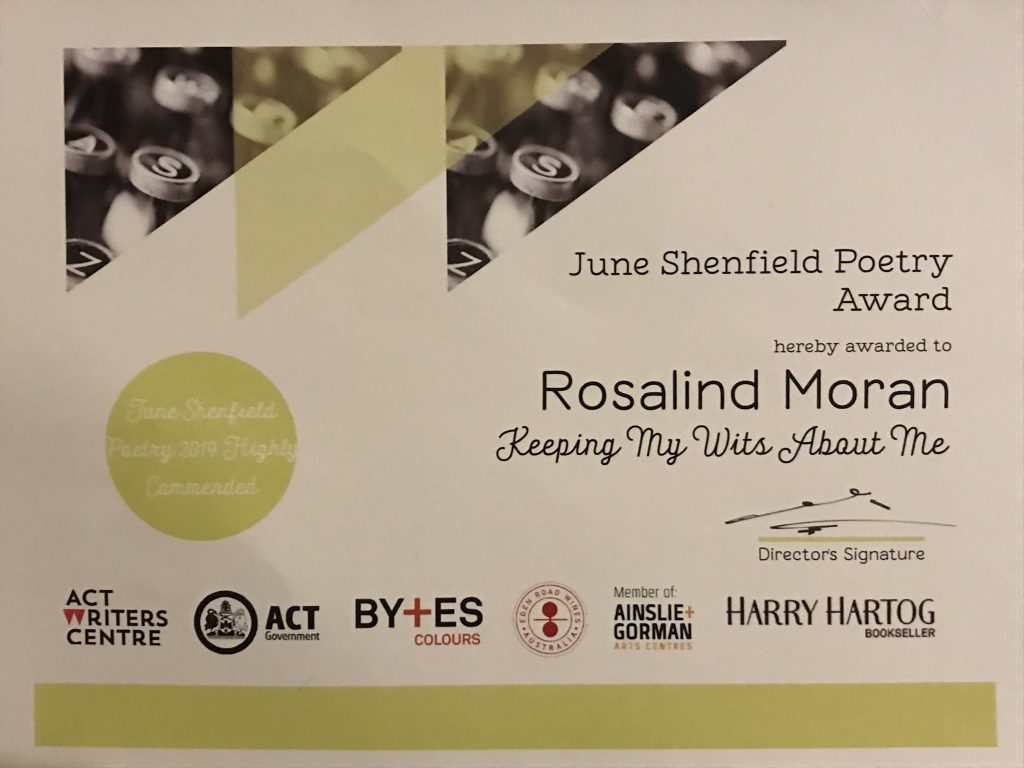 June Shenfield Poetry Award